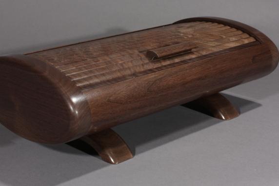 Oval Tambour Box Black Walnut 2014-12