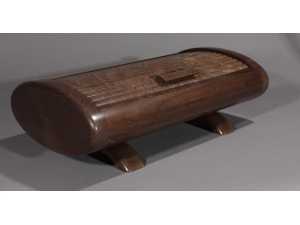 Oval Tambour Box Black Walnut 2014-12