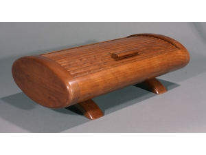 Oval Tambour Box Black Cherry 2014-27